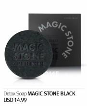 April Skin Magic Stone Black 100%天然手工洗面皂魔法石 100g (日用黑色)