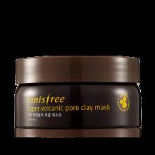 Innisfree Super Volcanic Pore Clay Mask with scorla and green complex 200ml  濟洲火山泥控油收毛孔清潔面膜(加強版) NEW!!